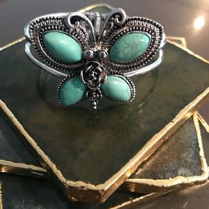 (3 for $15) turquoise butterfly cuff bracelet